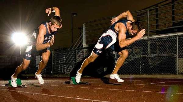 Спортсмены бегуны