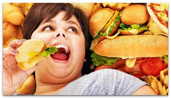 Фаст-фут вредная еда