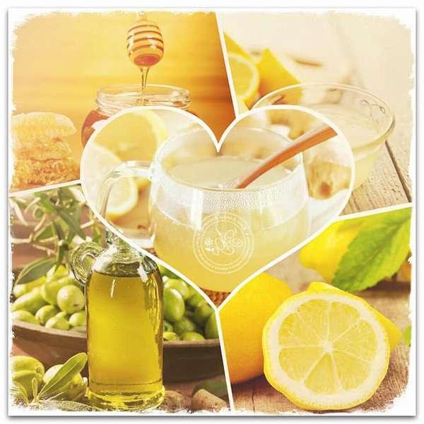 Народное средство: лимон, оливковое масло, мед