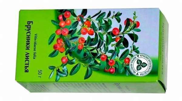 Чай в пакетах с брусничными листьями
