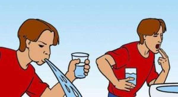Рвота поможет избавиться от остатков вредной пищи в желудке
