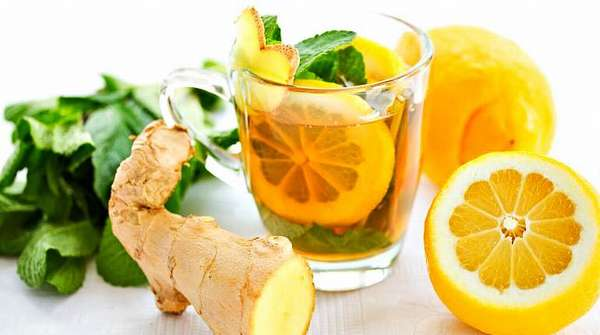 Лимон, мед, мята