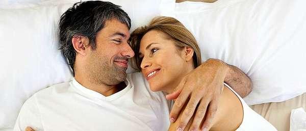 Счастливая пара в годах