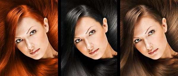 Роскошные волосы у женщины разных цветов