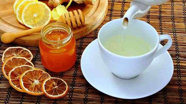 Вода, лимон, мед