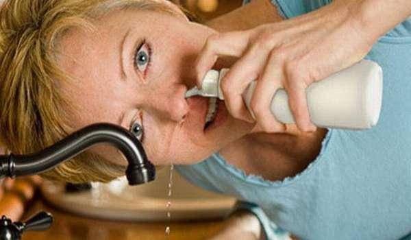 Лечение аденоидов у взрослых - промывание носоглотки