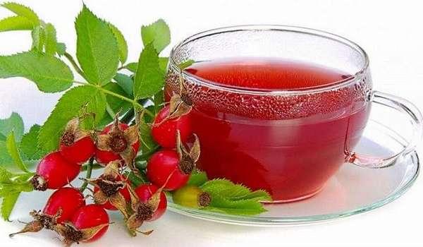 Полезен чай с плодами шиповника