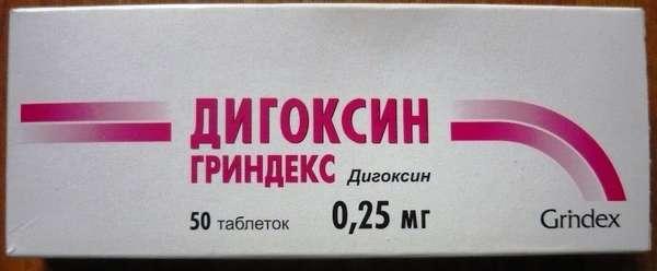 Отравление дигоксином: симптомы, передозировка