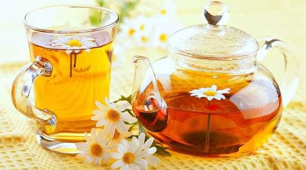 Чай из меда и ромашки