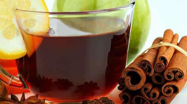 Яблоко, ромашка, зеленый чай