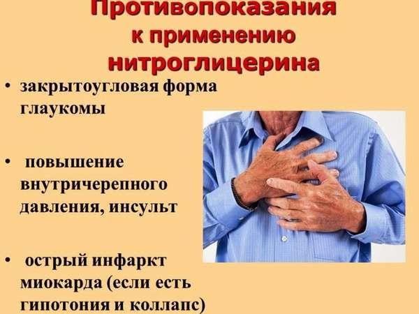 Отравление и передозировка нитроглицерином
