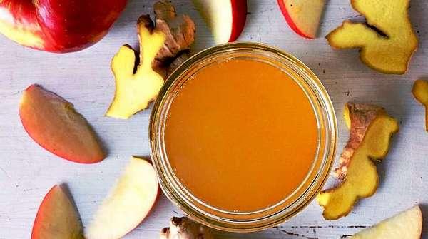 Напиток из имбиря с яблоками