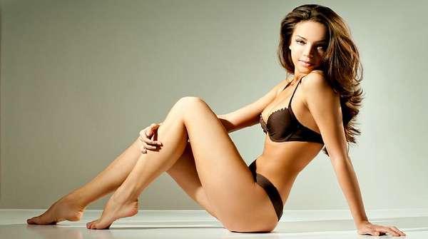 У женщины идеальное тело