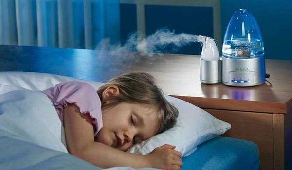 Увлажнение воздуха при заложенности носа