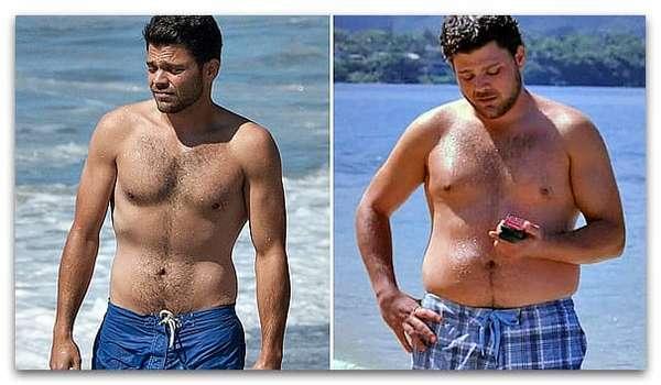 Мужчина до похудения и после