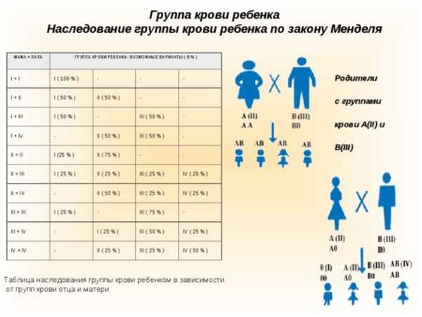 Группа крови ребенка: как узнать, зная данные обоих родителей, таблица