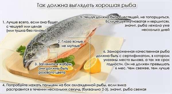 Как выглядит качественная рыба